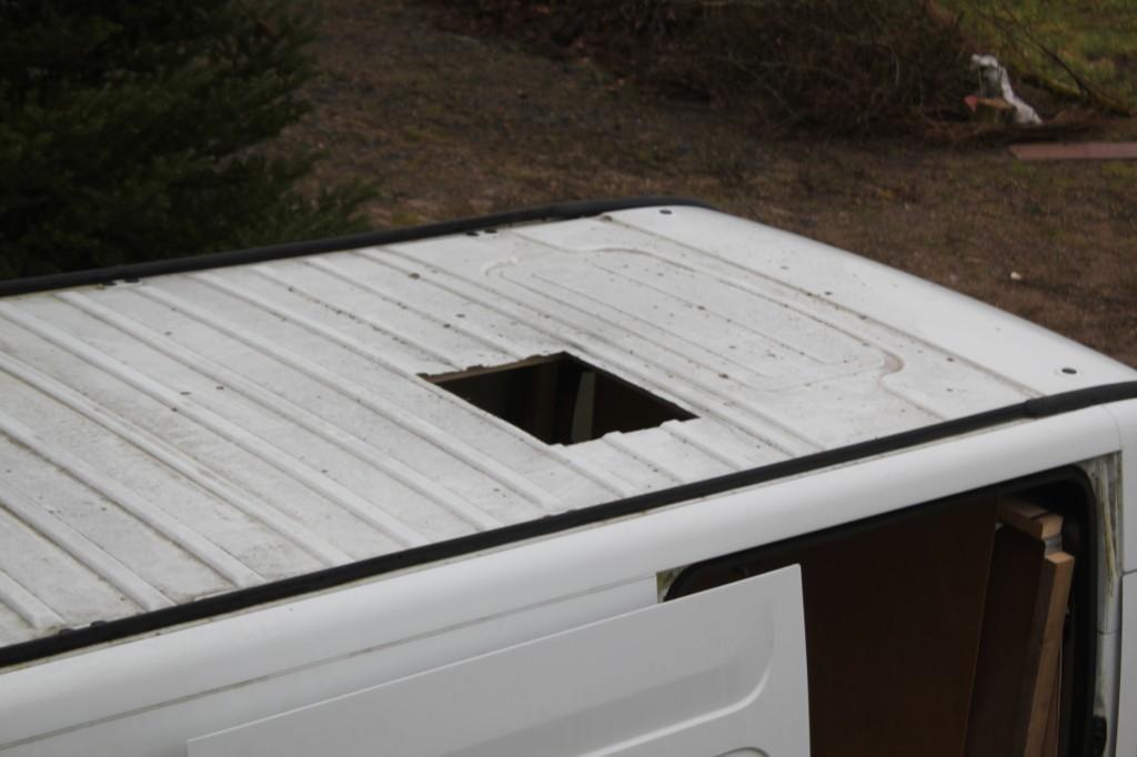 ouverture dans le toit