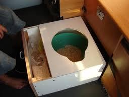 Toilettes sèches fourgon