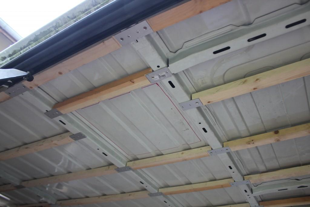 traçage de la découpe du toit