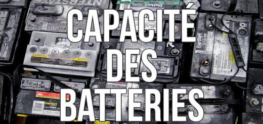 capacite batterie auxiliaire fourgon amenage