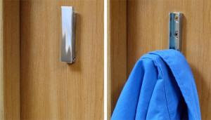 astuce Porte manteau rétractable pour fourgon aménagé