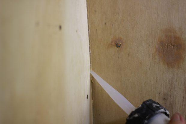 Joint paroi douche aménagement de fourgon