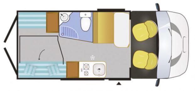 Plan fourgon aménagé Challenger Vany 114S