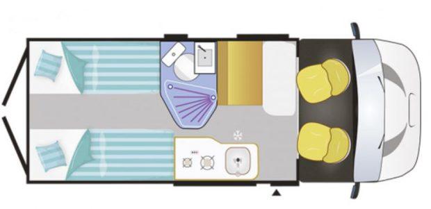 Plan fourgon aménagé Challenger Vany 117C