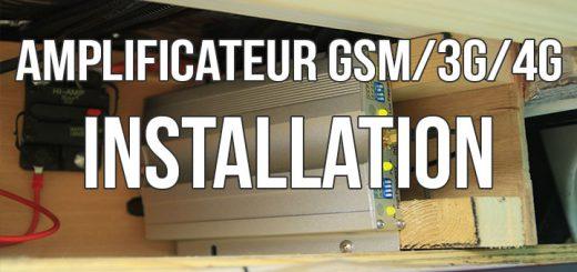 installation d'un amplificateur 3g 4g dans le fourgon