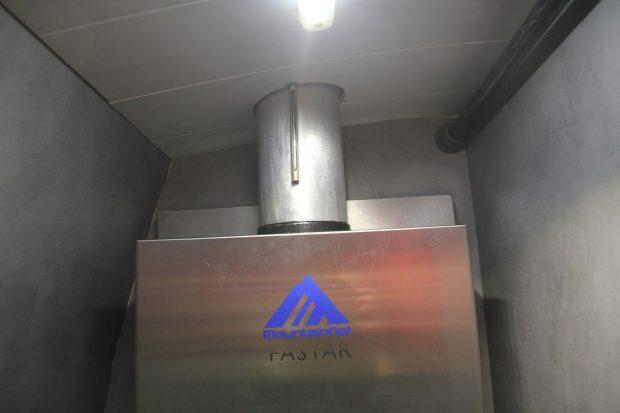 liaison cheminée avec le chauffe eau