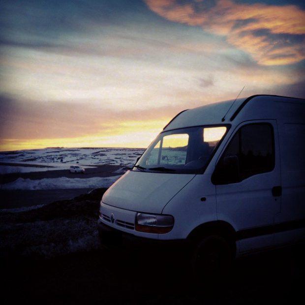 roadtrip hiver en van aménagé