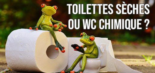 Toilettes sèches ou WC chimique fourgon