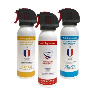 Bombes lacrymogènes de défense et protection