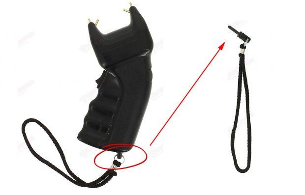 Taser électrique avec dragonne de sécurité