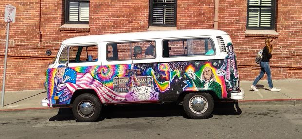 Van de hippie flower power