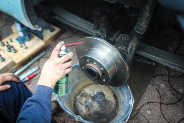 Nettoyage disques de freins