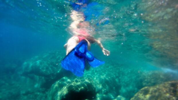 Snorkeling dans la mer