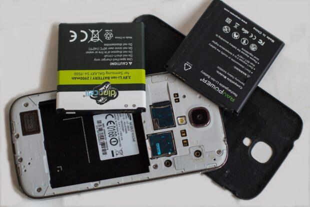 Batterie ion-lithium de téléphone portable
