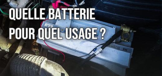 Choix des batteries
